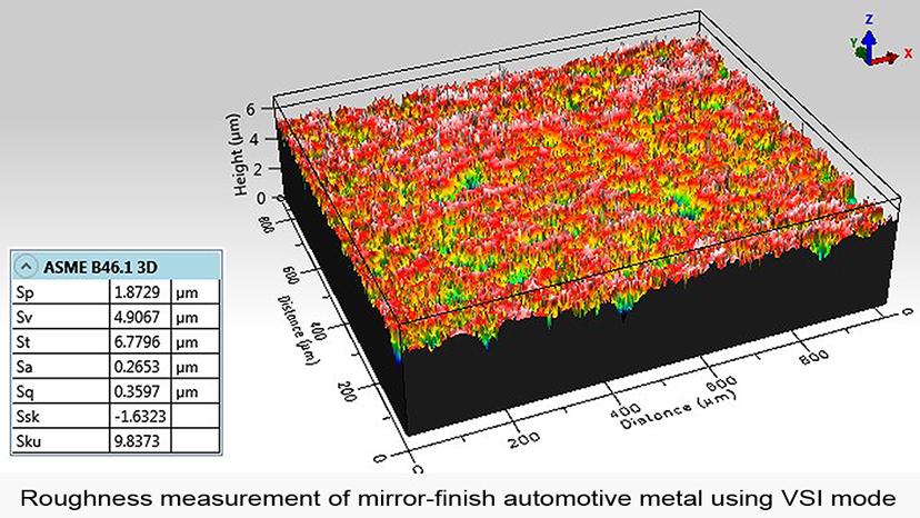 自動車部品の粗さ測定
